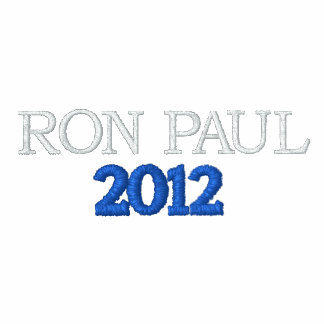 Ron Paul para presidente Chaqueta-Oscuro Blue Sudadera Bordada Con Cremallera