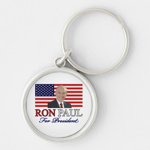 Ron Paul para presidente KeyChain Llavero
