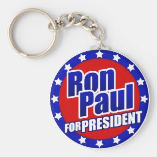 Ron Paul para presidente Keychain Llavero Redondo Tipo Pin