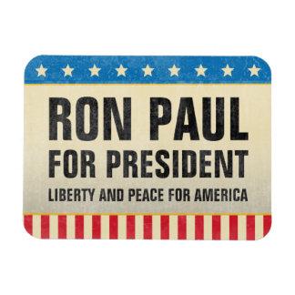 Ron Paul para presidente Magnet Iman Rectangular