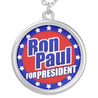 Ron Paul para presidente Necklace Colgante Redondo