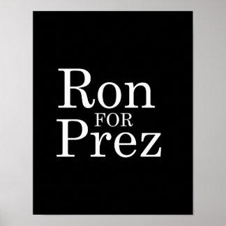 RON PAUL PARA PREZ (blanco) Posters
