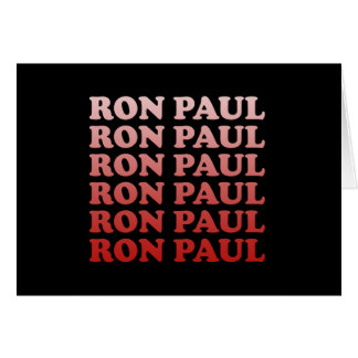 RON PAUL PATTERN CARDS
