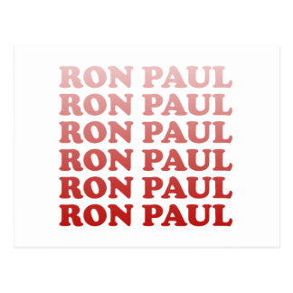 RON PAUL PATTERN POST CARDS