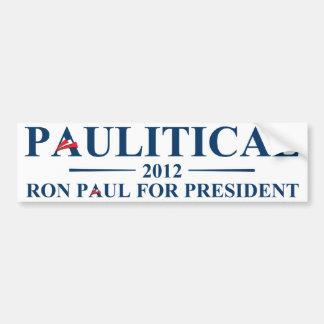 """Ron Paul """"Paulitical"""" Bumper Sticker Car Bumper Sticker"""