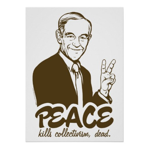 Ron Paul Peace Customizable Poster