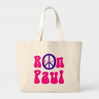 Ron Paul Peace Revolution Large Tote Bag
