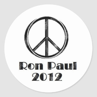 Ron Paul Peace Sign Classic Round Sticker