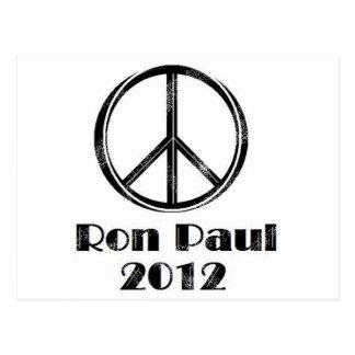 Ron Paul Peace Sign Postcard