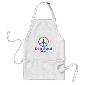 Ron Paul Peace Sign Rainbow Adult Apron