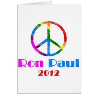 Ron Paul Peace Sign Rainbow Greeting Card