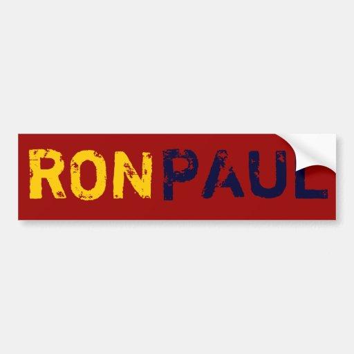 Ron Paul Pegatina De Parachoque