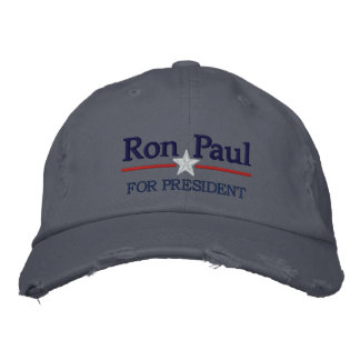 Ron Paul Personalized Text Embroidered Baseball Hat