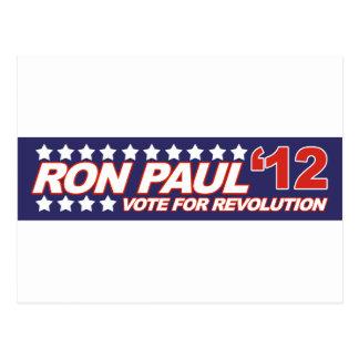 Ron Paul - política 2012 del presidente de la elec Tarjeta Postal