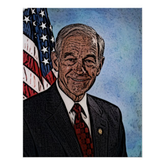 Ron Paul Portrait based off his 07' Congress Photo Poster