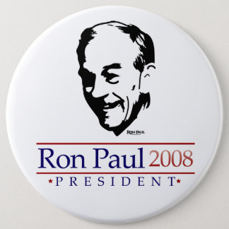Ron Paul Portrait Gigantic Button