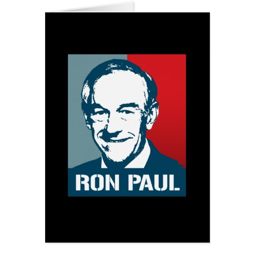 RON PAUL POSTER GREETING CARD