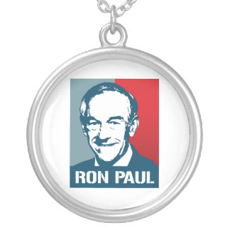 RON PAUL POSTER ROUND PENDANT NECKLACE