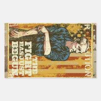Ron Paul Poster Rectangular Sticker