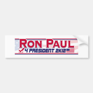 Ron Paul President 2012 Bumper Sticker