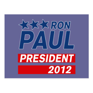 Ron Paul President 2012 Campaign Gear Post Card