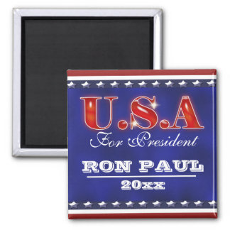 Ron Paul president 2012 CUSTOMIZE 2 Inch Square Magnet