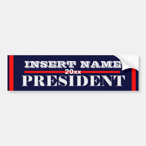 Ron Paul president 2012 CUSTOMIZE Bumper Stickers