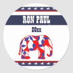 Ron Paul president 2012 CUSTOMIZE Round Sticker