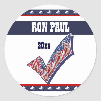 Ron Paul president 2012 CUSTOMIZE Classic Round Sticker