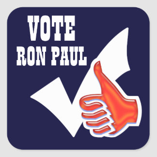 Ron Paul president 2012 CUSTOMIZE Square Sticker
