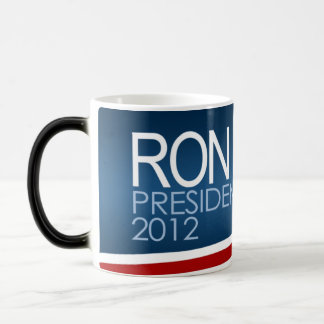 Ron Paul President 2012 11 Oz Magic Heat Color-Changing Coffee Mug