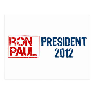 Ron Paul president 2012 Post Cards
