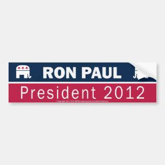 Ron Paul President 2012 Republican Elephant Bumper Stickers