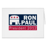 Ron Paul President 2012 Republican Elephant Cards