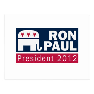 Ron Paul President 2012 Republican Elephant Postcard