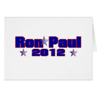 Ron Paul Presidential Star Card