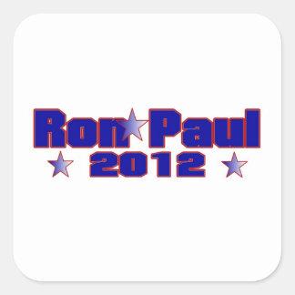 Ron Paul Presidential Star Square Sticker