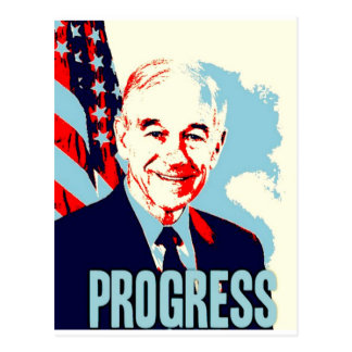Ron Paul Progress Postcard