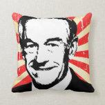 Ron Paul Propaganda Throw Pillows