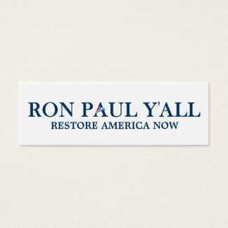 Ron Paul que usted marca una dirección de la Tarjetas De Visita Mini