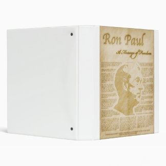 Ron Paul Quotes A Message Of Freedom 3 Ring Binder
