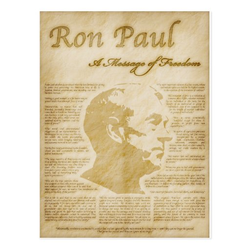 Ron Paul Quotes A Message Of Freedom Postcard