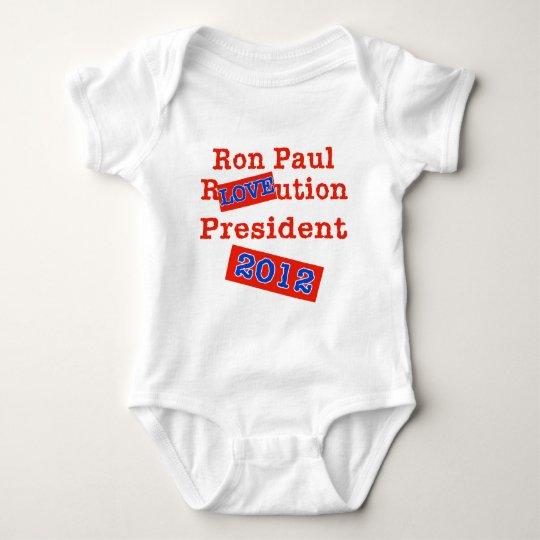 Ron Paul R LOVE ution! Revolution 2012! Baby Bodysuit