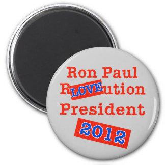 Ron Paul R LOVE ution! Revolution 2012! Magnet