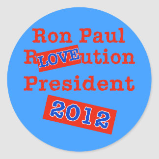 Ron Paul R LOVE ution Revolution 2012 Sticker