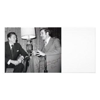 Ron Paul & Reagan Customizable Card Picture Card