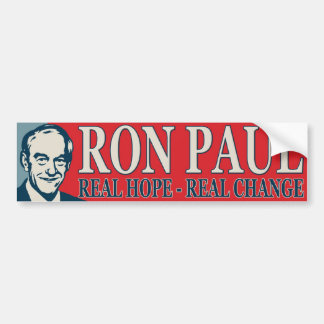 Ron Paul: Real Hope - Real Change Car Bumper Sticker