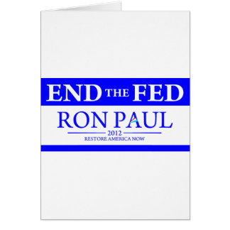 Ron Paul Restore America Now Banner Card