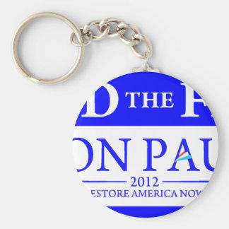 Ron Paul Restore America Now Banner Basic Round Button Keychain