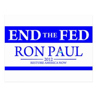 Ron Paul Restore America Now Banner Postcard